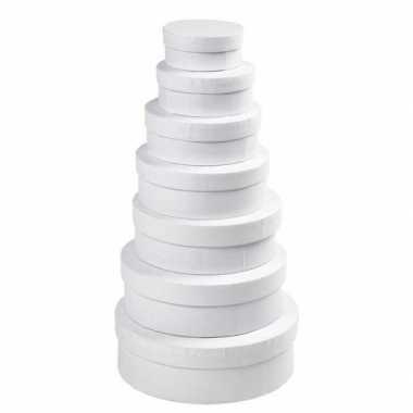 Witte ronde doos 21,5 cm